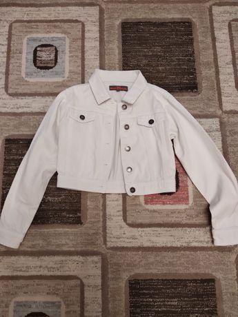 Укороченная котоновая курточка 134-146