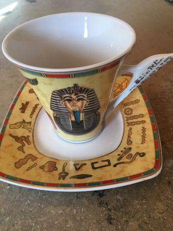 Egipski stary komplet kawowy