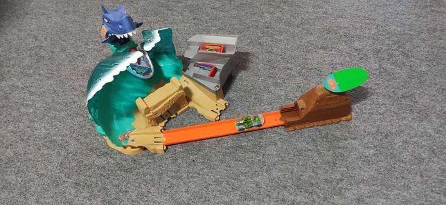 Mega Destruction Shark, pista de carros de brinquedo Hot Wheels