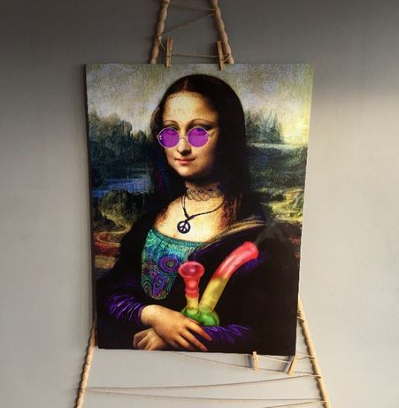 Plakat Mona Lisa oraz inne / A1 (80cm x 60cm) / W antyramie lub bez