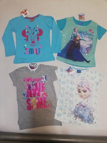 Nowe bluzki t-shirty Frozen ELSA MIKI KONIKI PONY 104
