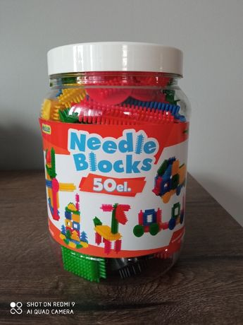 Wader klocki, 50 elementów, Needle Blocks, kompletny zestaw.