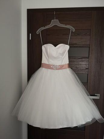 Krótka sukienka ślubna suknia ślubna za kolano DO PRZERÓBKI