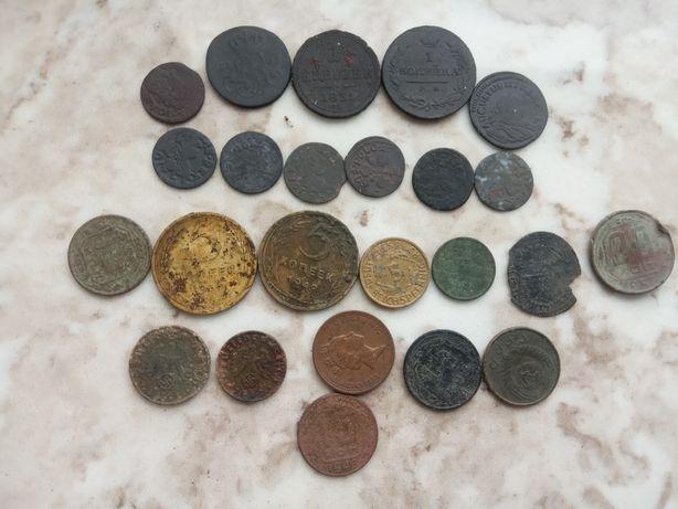Разные  монеты с 1660 до 1956 годов