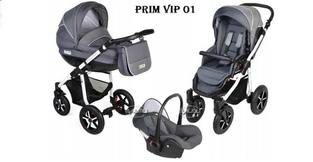 Wózek dziecięcy Dorjan Prim Vip 3w1