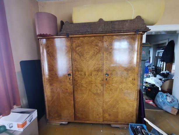 Piękna duża szafa art deco vintage lata 30/40 drewno