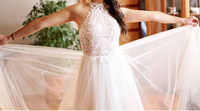 Suknia ślubna na szyję + ETOLA GRATIS!