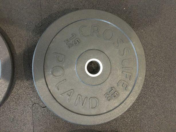 Talerz olimpijski, obciążenie na sztangę 15 kg