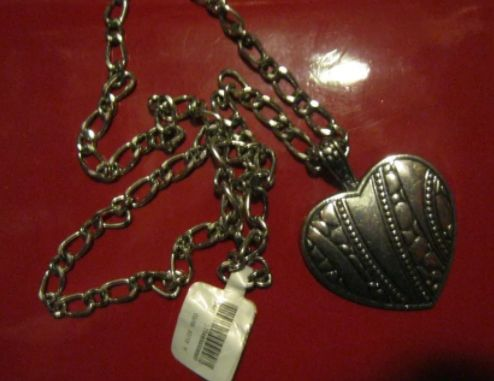 бижутерия ЦЕПОЧКА серебрестый металл бусы ожерелье кулон сердце