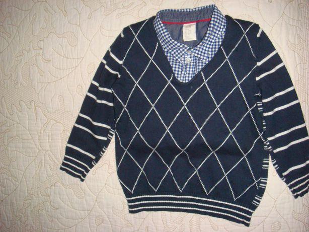 Вязаный итальянский детский свитер джемпер пуловер.