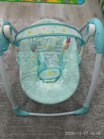 Заколисуючий центр шезлонг качалка гойдалка для немовлят