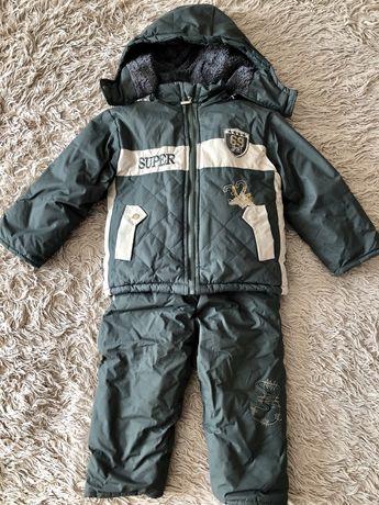 Зимний костюм полукомбинезон теплый 98 размер