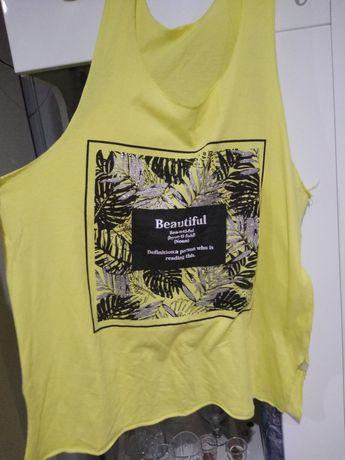 T-shirt neonowy luźny idealny na siłownię