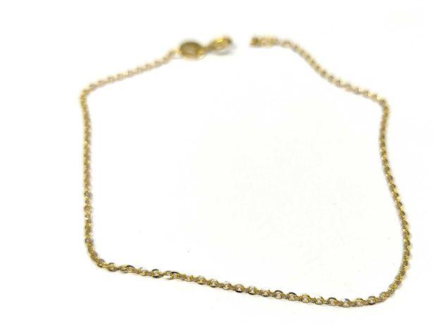 Nowa złota bransoletka kuleczki 585 1,02 g 19 cm Pudełko gratis