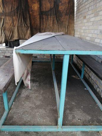 Продам стол с лавками