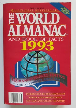 The World Almanac And Book of Facts 1993, 1994, 1995, 1996