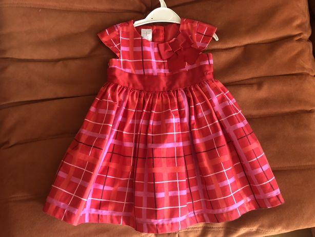 Платье красное 9-12 месяцев, на годик