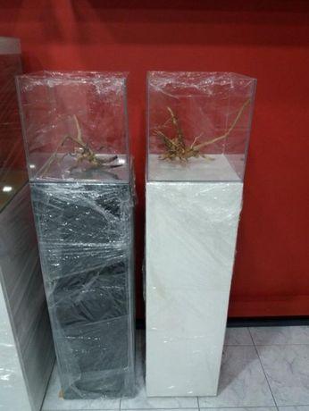Aquario nano em vidro extra claro com móvel novo