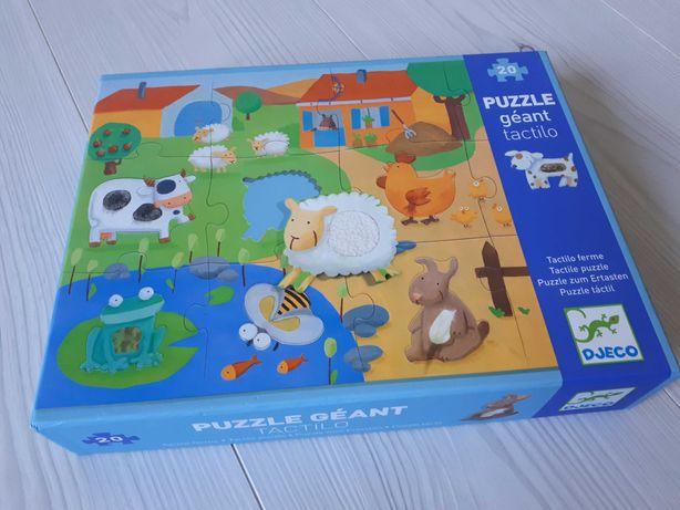 DJECO 20 puzzle sensoryczne duże zwierzęta dotyk gigant