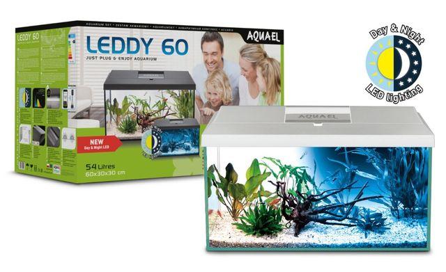 NOWY zestaw Aquael LEDDY DAY&NIGHT 60 (54l) biały 305 zł