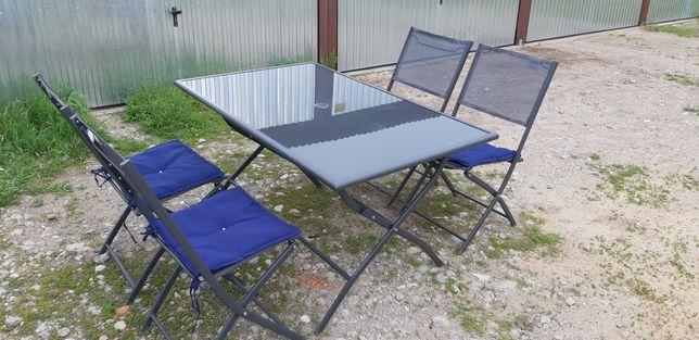 Stół + krzesła zestaw ogrodowy