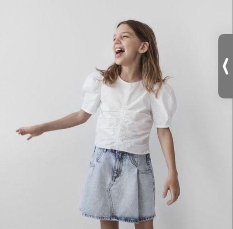 Блузка на коррткий рукав топ zara розмір 10 років