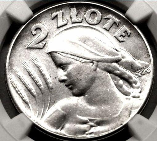 2 zł żniwiarka 1925 r bk.