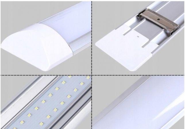 lampa led 120 cm do garażu panel świetlówka 120w 10szt