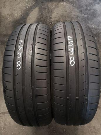 Opony letnie 195/60/15 Dunlop 2szt 5,7mm