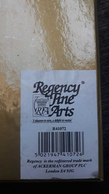 Regency Fine Art Obrazek dekoracyjny na ścianę lub ramka srebrny