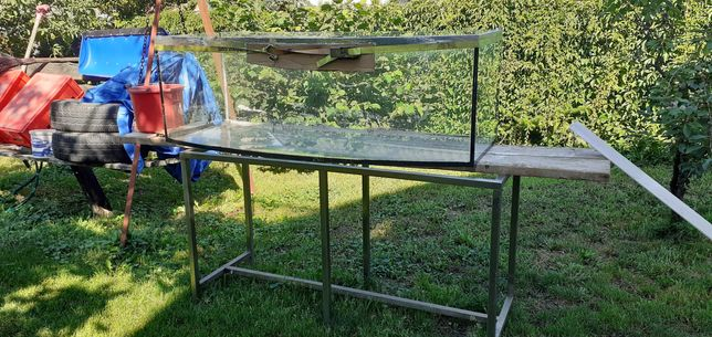 Akwarium 425l Panoramiczne ze stołem z stali kwasowej ROZSZCZELNIONE!