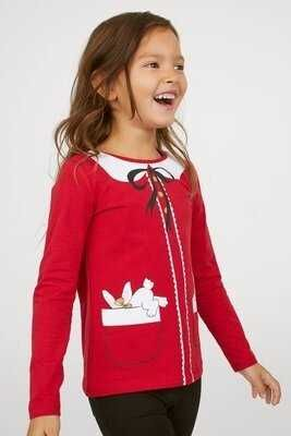 Ооочень классный Новогодний реглан H&M с кроликами!!! 8-10