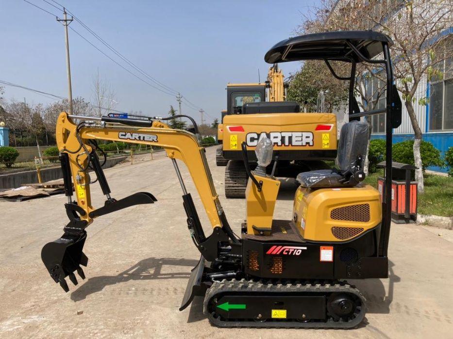 Mini escavadora CARTER CT10, peso 920kg