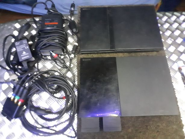 2xsony PS2+kable+memory card