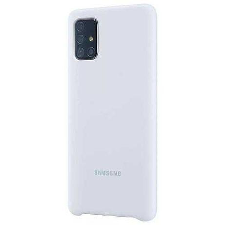 Etui SAMSUNG Silicone Cover do Galaxy A71 Srebrny NOWE