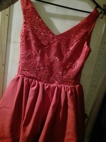 Czerwona sukienka, rozmiar s