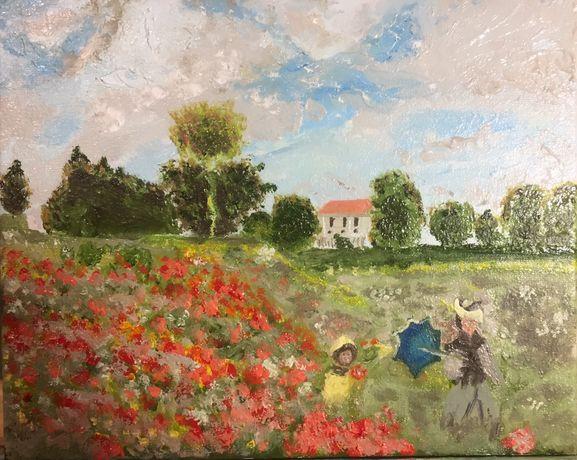 Картина Claude Monet, Les Coquelicots. Клод Моне, Маки(копия)