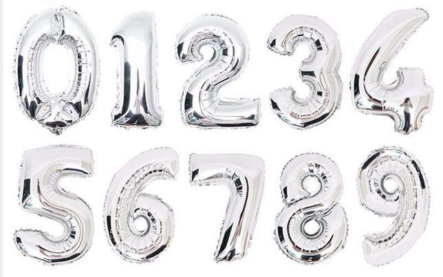 Цифры шары фольгированные на День Рождения шарики из фольги 102 см