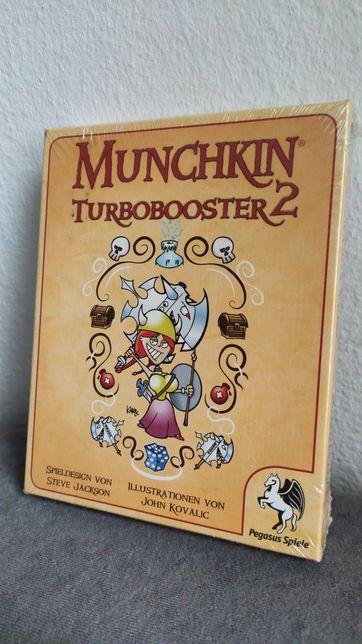 Munchkin Turbo Booster 2 Gra Planszowa karciana - Nowa Folia