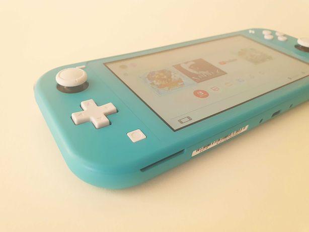 Nintendo Switch Lite Turquesa (com garantia e acessórios)