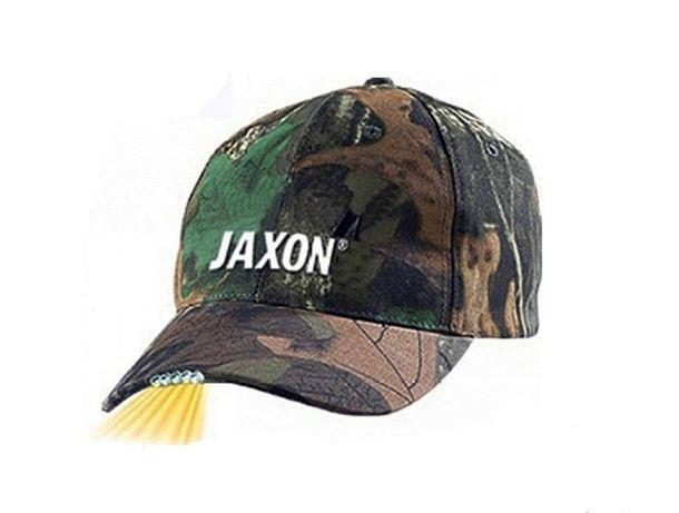 Czapka Jaxon Moro/Ciemna JAXON z Latarką!