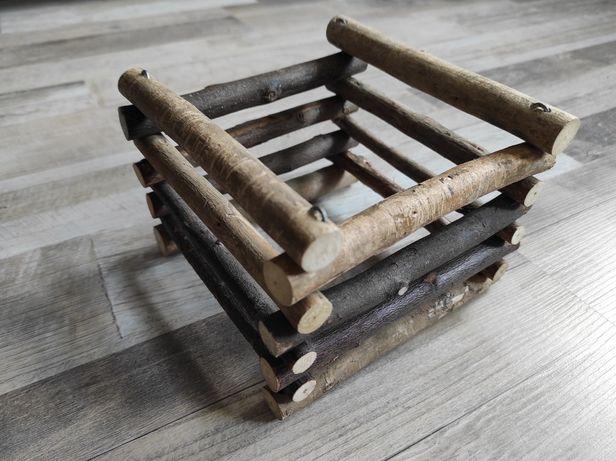 Drewniany paśnik na sianko królik szynszyl świnka morska gryzonie