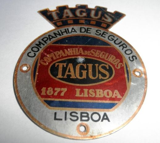 Placa Companhia Seguros Tagus Lisboa 1877