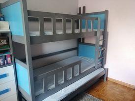 Łóżko piętrowe 3 osobowe Sieradz - image 1