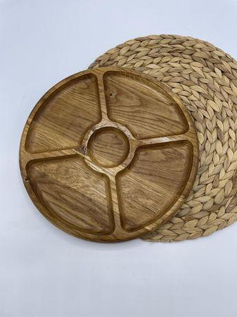 Тарілки дерев'яні