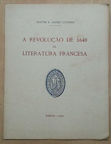 a revolução de 1640 na literatura francesa, porto – 1940