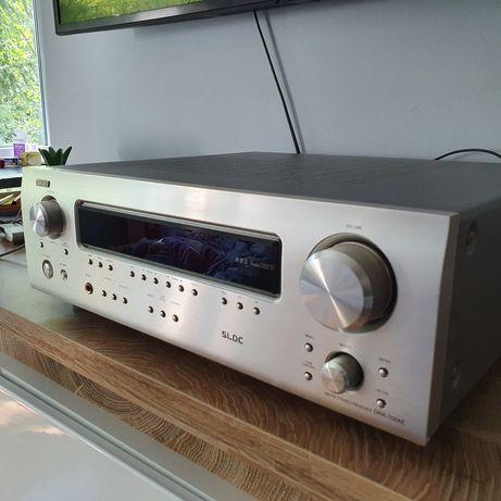 ** Amplituner Stereo/Wzmacniacz Denon Dra-700ae srebrny+pilot