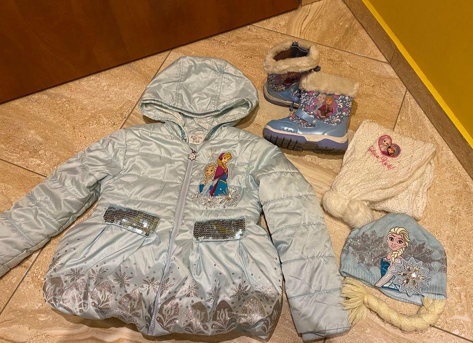 Disney Store Kurtka Elsa 116 buty czapka szalik cały zestaw Olsztyn - image 1