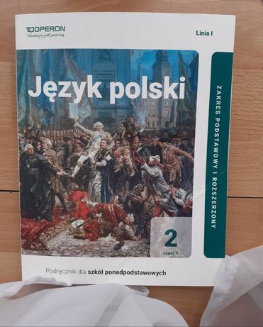 Podręcznik język polski klasa 2 Operon część 1