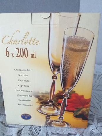 Nowe kieliszki do szampana 6x200 ml